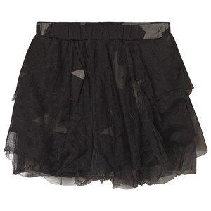 NUNUNU Layered Tulle Star Skirt Black 18-24 Months