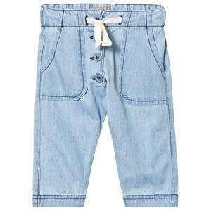 Emile et Ida Washed Chambray Pants Bleach 6 Months