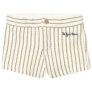 Emile et Ida Lurex Stripe Shorts Or 8 Years