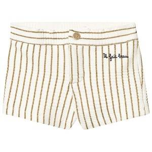 Emile et Ida Lurex Stripe Shorts Or 12 Years