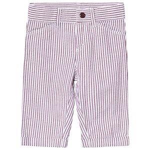 Petit Bateau Pantalon Vin/Ma White 3 Months