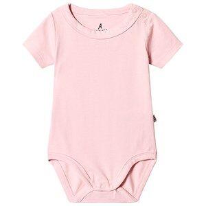 A Happy Brand Short Sleeve Baby Body Pink 62/68 cm