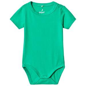 A Happy Brand Short Sleeve Baby Body Green 50/56 cm