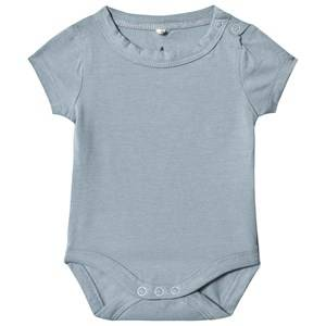A Happy Brand Short Sleeve Baby Body Grey 62/68 cm