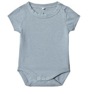 A Happy Brand Short Sleeve Baby Body Grey 50/56 cm
