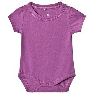 A Happy Brand Short Sleeve Baby Body Purple 62/68 cm