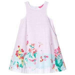 Image of Tom Joule Pink and White Stripe Fairy Print Woven Dress 2 years
