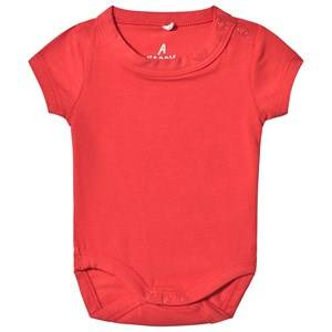 A Happy Brand Short Sleeve Baby Body Red 62/68 cm