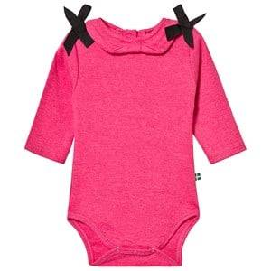 The BRAND Bow Baby Body Pink Melange 68/74 cm
