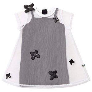 The BRAND Butterfly Tulle Dress White/Black 140/146 cm