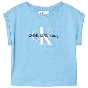 Image of Calvin Klein Jeans Blue Calvin Klein Monogram Logo Tee 10 years