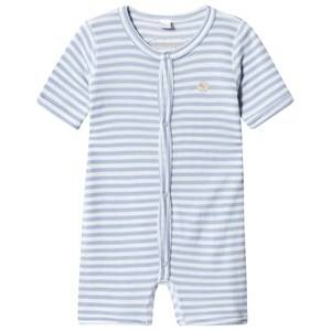 Lillelam Stripe Wool Romper Light Blue 68 cm (4-6 Months)