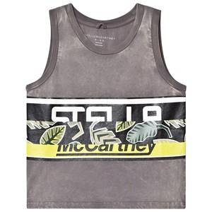 Image of Stella McCartney Kids Leaf Washed Tank Top Grey 2 years