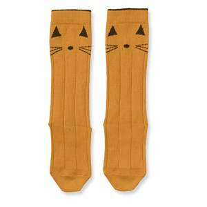 Liewood Sofia Cotton Knee Socks 2 Pack Cat Mustard 19-21 (9-12 Months)