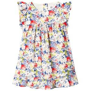 Image of GAP Ruffle Sleeve Dress Floral Print 18-24 Months