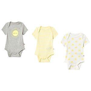 GAP 3-Pack Sun Elephant Baby Body Aurora Yellow 3-6 Months