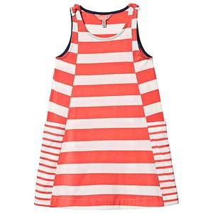 Image of Tom Joule Pink and White Stripe Jersey Dress 7-8 years
