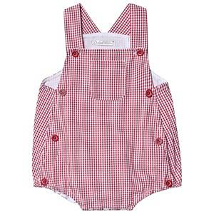 Dr Kid Gingham Button Overalls Red 3 months