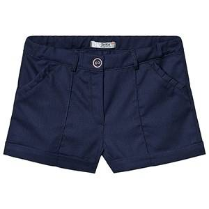 Dr Kid Navy Cotton Ruffle Pocket Shorts 24 months