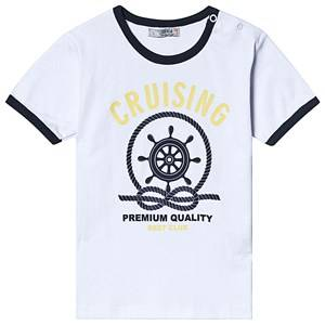 Dr Kid White and Navy Anchor Print Tee 3 years