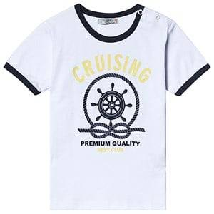 Image of Dr Kid White and Navy Anchor Print Tee 6 months