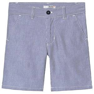 Image of Dr Kid Blue and White Stripe Cotton Shorts 6 years