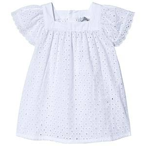 Dr Kid White Broderie Anglais Flutter Sleeve Top 4 years