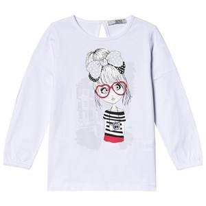 Image of Dr Kid White Girl Graphic Long Sleeve Tee 6 years