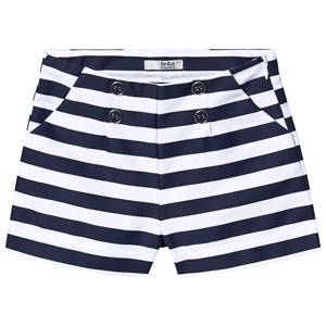 Dr Kid Navy and White Stripe Button Detail Shorts 12 years