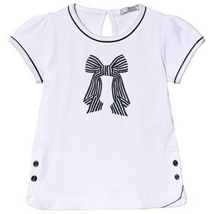 Dr Kid White and Navy Bow Embroidered Tee 12 years