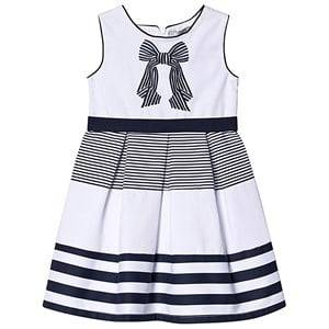 Image of Dr Kid Navy and White Stripe Bow Embroidered Dress 3 years