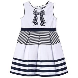 Image of Dr Kid Navy and White Stripe Bow Embroidered Dress 4 years