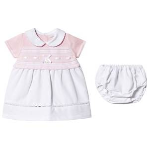 Image of Dr Kid Pink Knitted Collar Dress with Bloomers 6 months