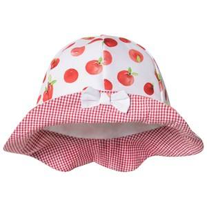 Dr Kid Red Apple and Gingham Bow Sun Hat Sun hats