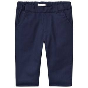 Image of Dr Kid Navy Cotton Elasticated Waist Trousers 6 months