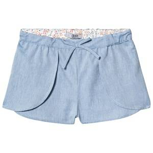 Dr Kid Light Blue Chambray Layered Shorts 12 months