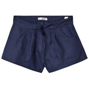 Dr Kid Navy Bow Waist Linen Shorts 12 years
