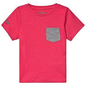 Bergans Myske Wool Kids Tee Dk Sorbet Solid Grey 98 cm (2-3 Years)