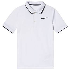Image of NIKE White Nike Court Dri-Fit Polo L (12-13 years)