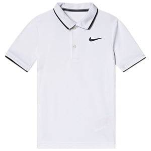Image of NIKE White Nike Court Dri-Fit Polo S (8-10 years)