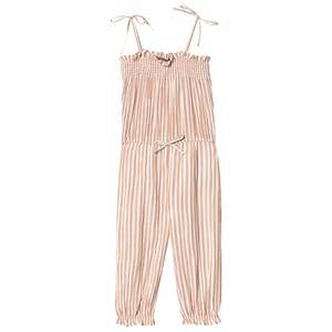 Emile et Ida Lurex Strappy Jumpsuit Terracota 4 Years