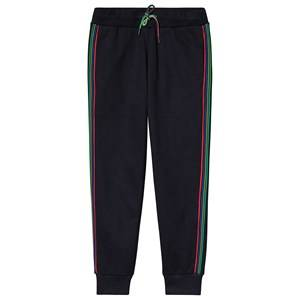 Paul Smith Junior Navy Multiside Stripe Sweatpants with Zebra Embroidered Back 2 years