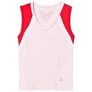 Image of Poivre Blanc Pink V Neck Tennis Tank Top 6 years