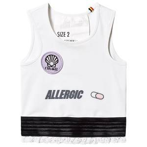 Image of Caroline Bosmans Tank Top With Embroidery White Allergic 2 Years