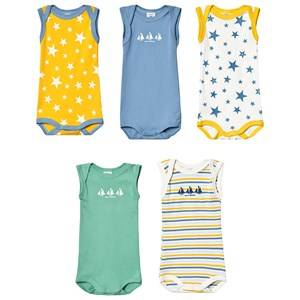 Petit Bateau 5-Pack Baby Bodies Green 12 Months
