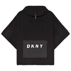 DKNY Black Branded Knit Poncho 6 years