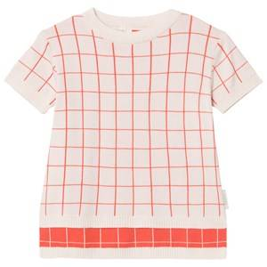 Tinycottons Grid Sweater Light Pink/Carmine 2 Years