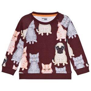Filemon Kid Fat Cat + Pug Sweatshirt Windsor Wine 80/86 cm