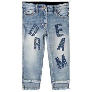 Monnalisa Blue Dream Diamante Applique Jeans 4 years