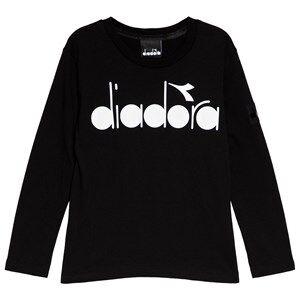 Diadora Black & White Branded T-Shirt L (12 years)